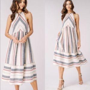 Dresses & Skirts - LAST ONE!⭐️💕Striped Halter Sundress with Pockets!